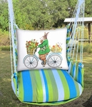 Beach Boulevard Spring Bunny Hammock Chair Swing Set