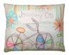 Bicycle Journey Outdoor Pillow