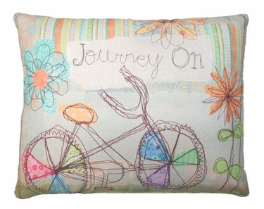 Bicycle Journey Outdoor Pillow - Click to enlarge