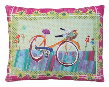 Bicycle Ride 2 Outdoor Pillow - Click to enlarge