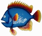 Big Blue Fish Wall Art