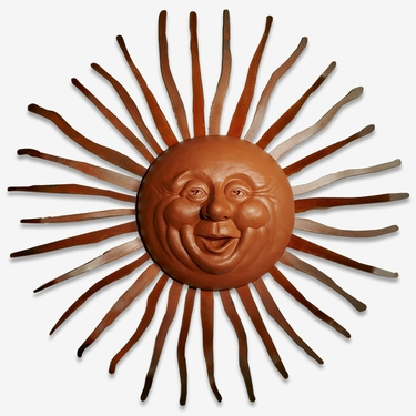 Big Happy Sun Decor w/Bent Rays - Click to enlarge