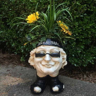 Biker Babe Face Planter - Antique Finish - Click to enlarge