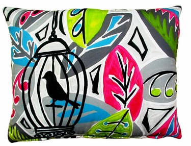 Birdcage Outdoor Pillow - Click to enlarge
