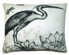 Black Heron Outdoor Pillow