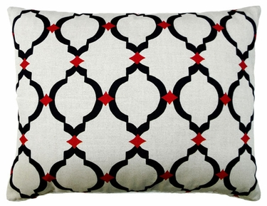Black Lattice Outdoor Pillow - Click to enlarge