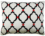 Black Lattice Outdoor Pillow