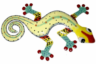 Black Spotted Gecko Wall Decor - Click to enlarge
