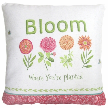 Bloom Where You're Planted Outdoor Pillow - Click to enlarge