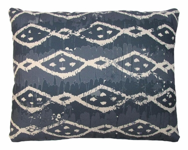 Blue Batik Outdoor Pillow - Click to enlarge