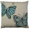 Blue Butterflies Outdoor Pillow