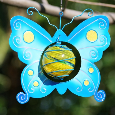 Blue Butterfly Art Glow Catcher - Click to enlarge