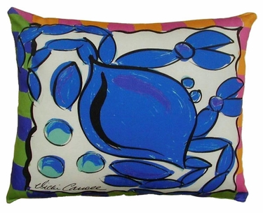 Blue Crab Outdoor Pillow - Click to enlarge