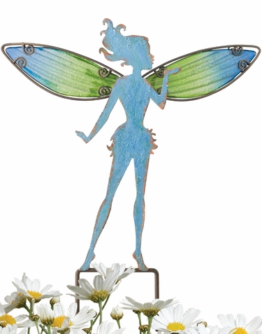 Small Blue Fairy Stakes (Set of 4) - Click to enlarge