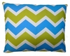 Blue Green Chevron Outdoor Pillow