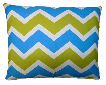 Blue Green Chevron Outdoor Pillow - Click to enlarge