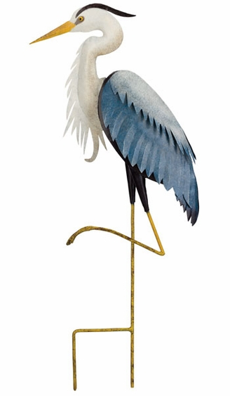 Blue Heron Garden Stake - Click to enlarge