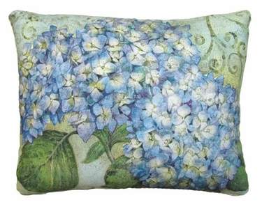 Blue Hydrangea Outdoor Pillow (18