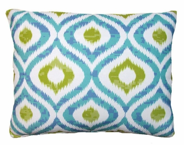 Blue Ikat Outdoor Pillow - Click to enlarge