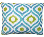 Blue Ikat Outdoor Pillow