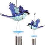 Blue Jay Hanging Wind Chimes (Set of 2)