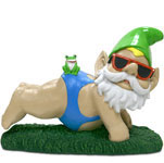 Blue Mankini Gnome - OMG!