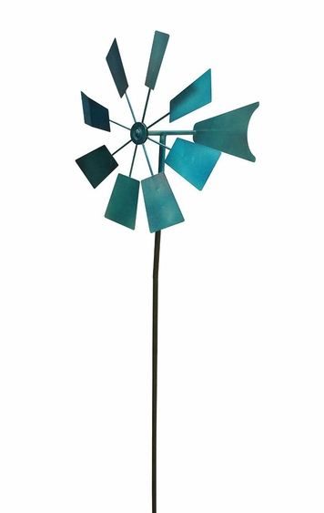 Blue Metal Windmill - Click to enlarge