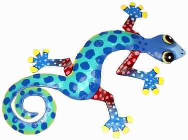 Blue Spotted Gecko Wall Decor - Click to enlarge