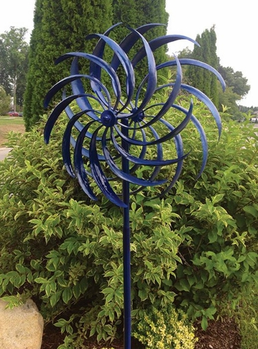 Blue Windswept Wind Spinner - Click to enlarge