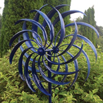 Blue Windswept Wind Spinner