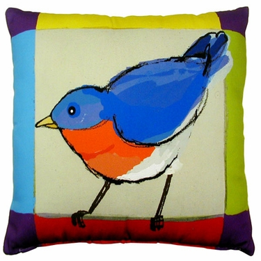 Bluebird Outdoor Pillow - Click to enlarge