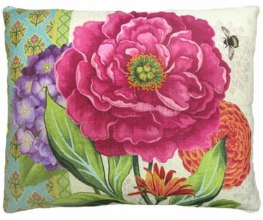 Bold Blossom 2 Outdoor Pillow - Click to enlarge