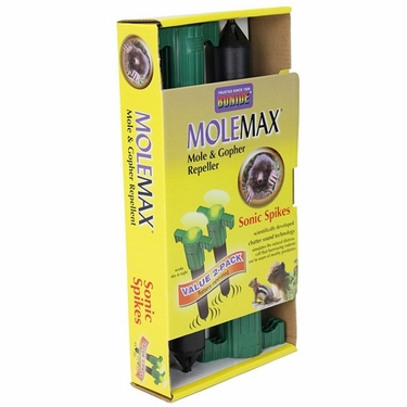 MoleMax by Bonide: w/Chatter Tech & LED Price-Value 2-Pack - Click to enlarge