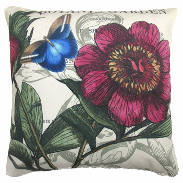 Botanic Garden w/Butterfly Outdoor Pillow - Click to enlarge