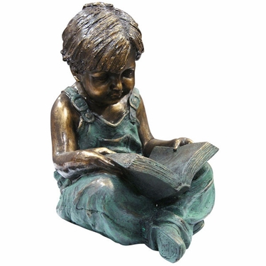Boy Reading Garden Statue - Click to enlarge
