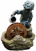 Boy w/Spinning Wheel Outdoor Fountain
