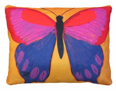 Brilliant Butterfly Yellow Outdoor Pillow - Click to enlarge
