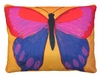 Brilliant Butterfly Yellow Outdoor Pillow