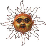 Bronze Marble Sun Decor