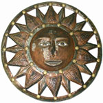 "33"" Bronze Sun Wall Decor"