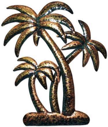 Bronzed Palm Trees Wall Art - Click to enlarge