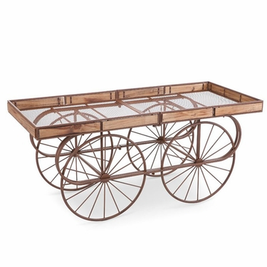 Brown Table Flower Cart - Click to enlarge