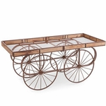 Brown Table Flower Cart