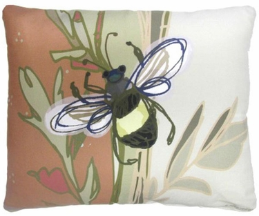 Bumblebee Flying Outdoor Pillow - Click to enlarge