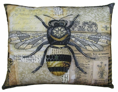 Bumblebee Outdoor Pillow - Click to enlarge