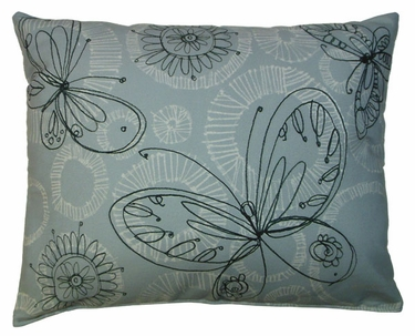 Butterfly Circles Gray Outdoor Pillow - Click to enlarge
