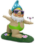 Butterfly Mankini Gnome - OMG!