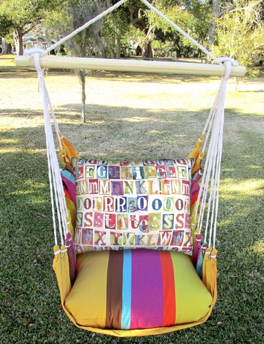 Cafe Soleil Alphabet Hammock Chair Swing Set - Click to enlarge