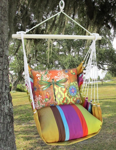 Cafe Soleil Dragonfly Flight Hammock Chair Swing Set - Click to enlarge