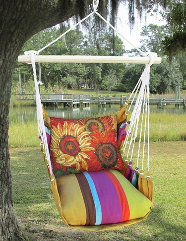 Cafe Soleil Full Bloom 1 Hammock Chair Swing Set - Click to enlarge